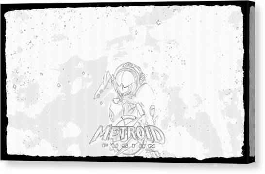 Metroid Canvas Print - Metroid Fusion by Lora Battle