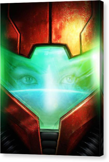 Metroid Canvas Print - Metroid by Joe Roberts