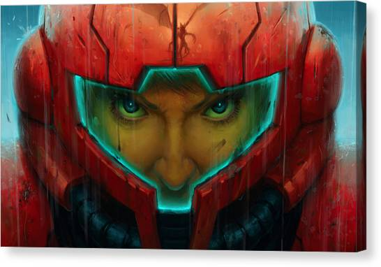 Metroid Canvas Print - Metroid by Lucie Malecot