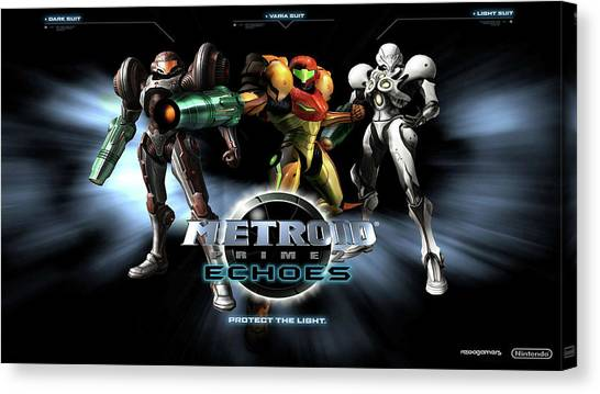 Metroid Canvas Print - Metroid Prime 2 Echoes by Super Lovely