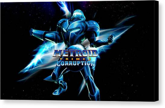 Metroid Canvas Print - Metroid Prime 3 Corruption by Maye Loeser