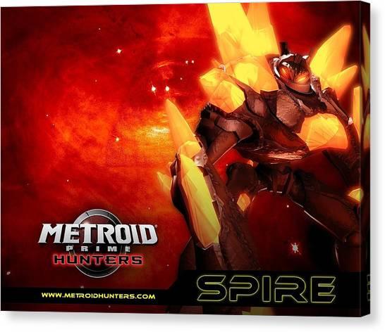 Metroid Canvas Print - Metroid Prime Hunters by Dorothy Binder