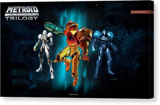 Metroid Canvas Print - Metroid Prime Trilogy by Dorothy Binder
