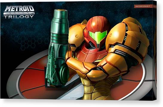 Metroid Canvas Print - Metroid Prime Trilogy by Super Lovely