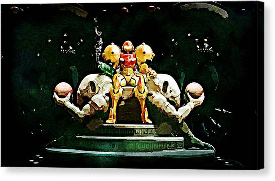 Metroid Canvas Print - Metroid Samus Returns by Lora Battle