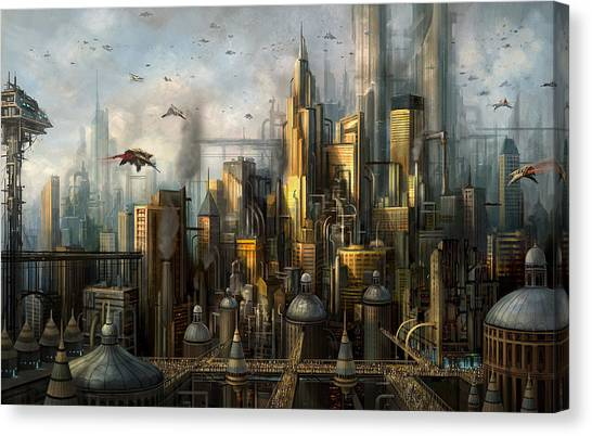 Pollution Canvas Print - Metropolis by Philip Straub