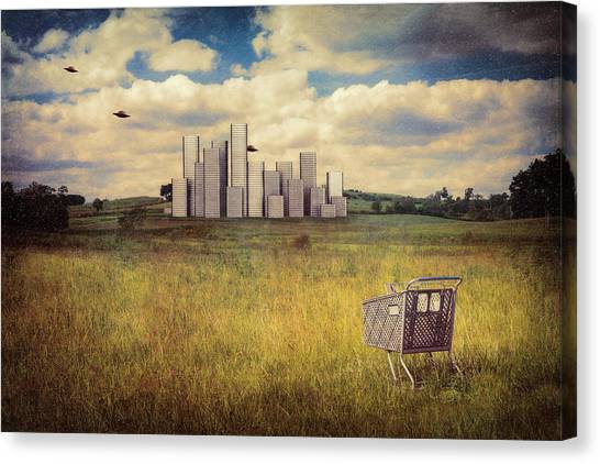 Outer Space Canvas Print - Metropolis by Tom Mc Nemar