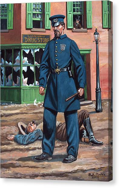 Metropolitan Police Officer 1863 Canvas Print by Mark Maritato