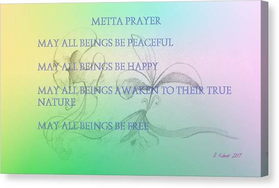 Metta Prayer Canvas Print
