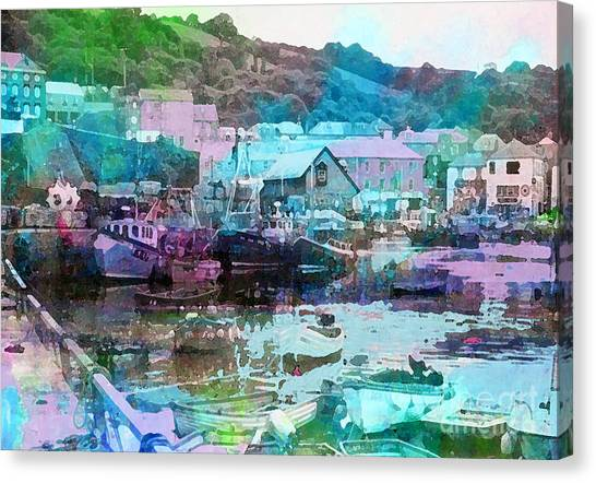 Mevagissey Harbour Canvas Print