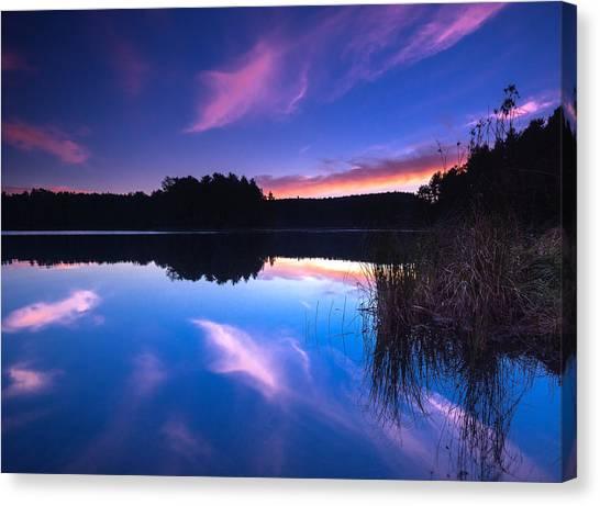 Algonquin Park Canvas Print - Mew Lake Sunset by Cale Best
