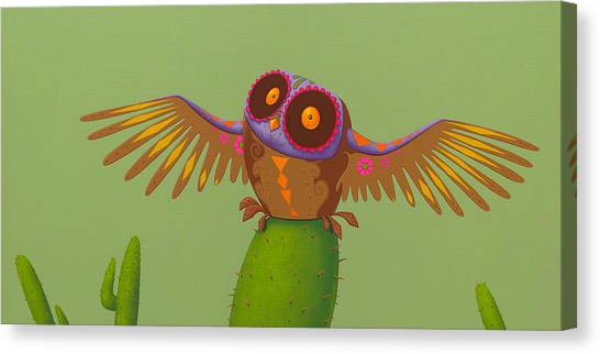 Mexican Canvas Print - Mexican Owl by Jasper Oostland