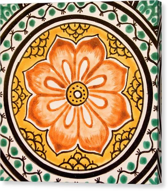 Guanajuato Canvas Print - Mexican Tile Detail by Carol Leigh