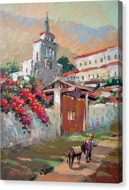 Mexican Village 1 Canvas Print