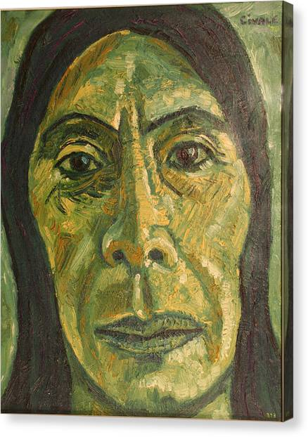 Mexican Woman Canvas Print by Biagio Civale