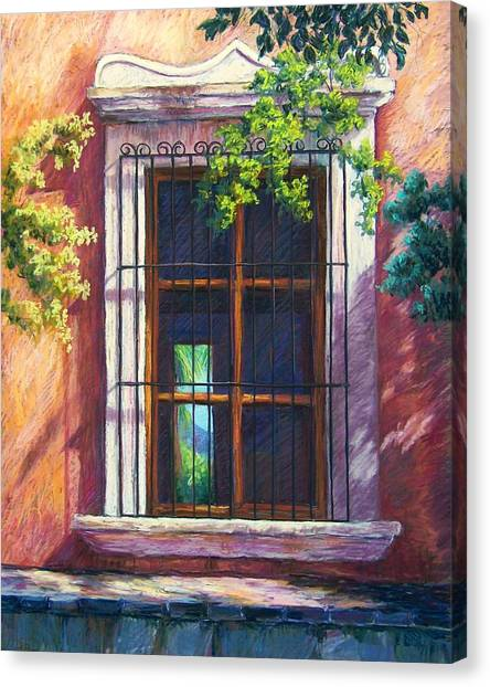 Mexico Window Canvas Print by Candy Mayer
