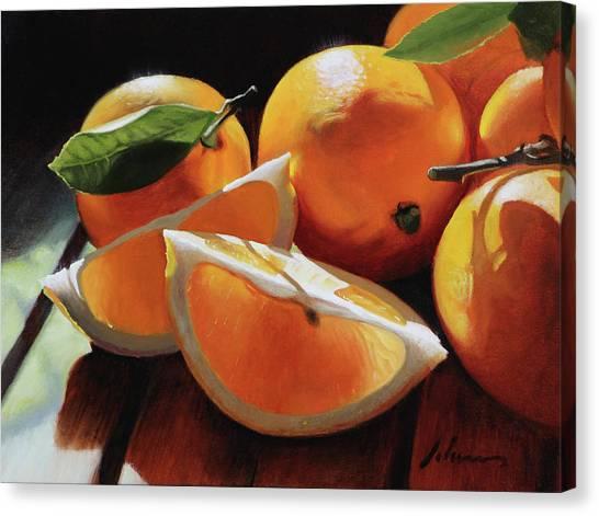 Meyer Lemons Canvas Print by Michael Lynn Adams