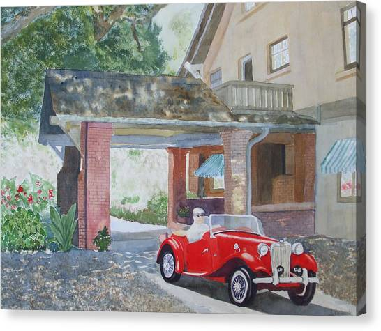 Mg At Marston House Canvas Print by Ally Benbrook