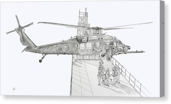 Special Forces Canvas Print - Mh-60 At Work by Nicholas Linehan