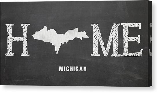 Central Michigan University Canvas Print - Mi Home by Nancy Ingersoll