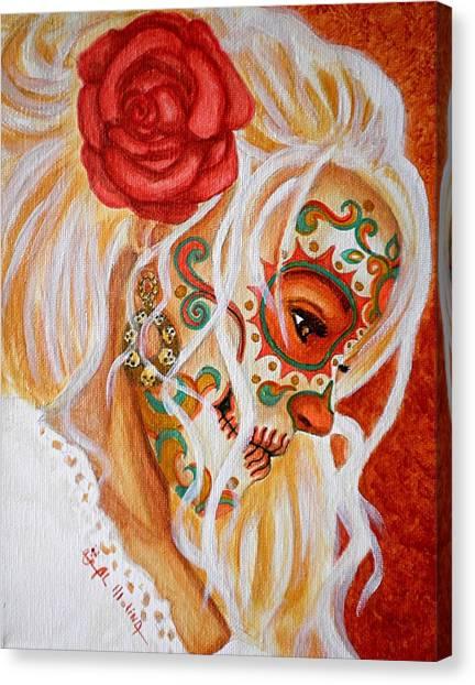 Mi Mente Me Lleva De Nuevo A Usted  Canvas Print