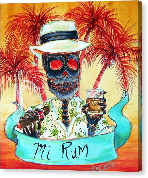 Rum Canvas Print - Mi Rum by Heather Calderon