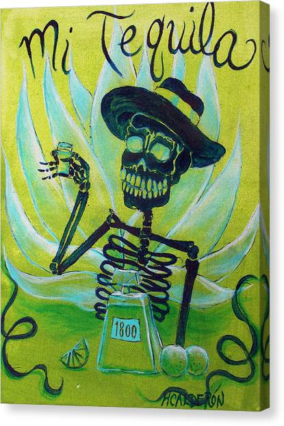 Liquor Canvas Print - Mi Tequila by Heather Calderon