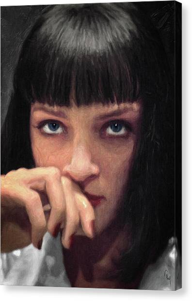 Pulp Fiction Canvas Print - Mia Wallace - Pulp Fiction by Zapista