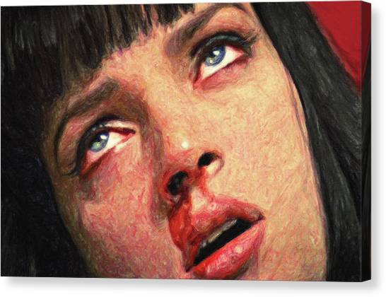 Pulp Fiction Canvas Print - Mia Wallace by Zapista