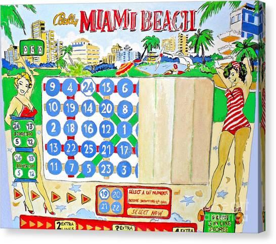Miami Beach Canvas Print