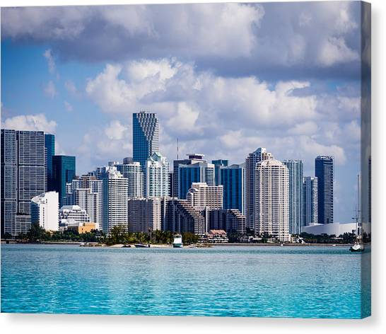 Miami Blues Canvas Print