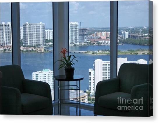 Miami Business World Canvas Print by Mary Lou Chmura