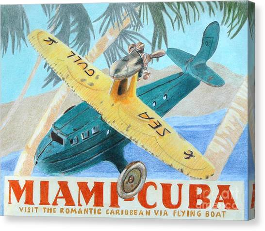 Miami-cuba Canvas Print