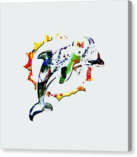 Dan Marino Canvas Print - Miami Dolphins 3c by Brian Reaves