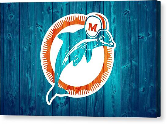 Dan Marino Canvas Print - Miami Dolphins Barn Door by Dan Sproul