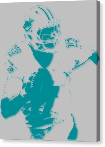 Miami Dolphins Canvas Print - Miami Dolphins Ryan Tannehill by Joe Hamilton