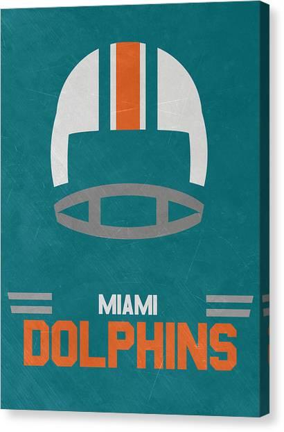 Miami Dolphins Canvas Print - Miami Dolphins Vintage Art by Joe Hamilton