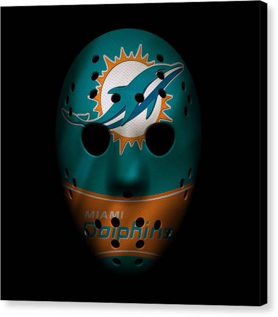 Miami Dolphins Canvas Print - Miami Dolphins War Mask 3 by Joe Hamilton