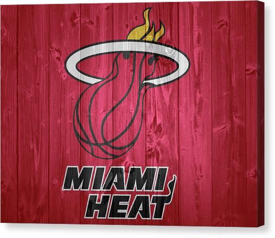 Dwayne Wade Canvas Print - Miami Heat Barn Door by Dan Sproul