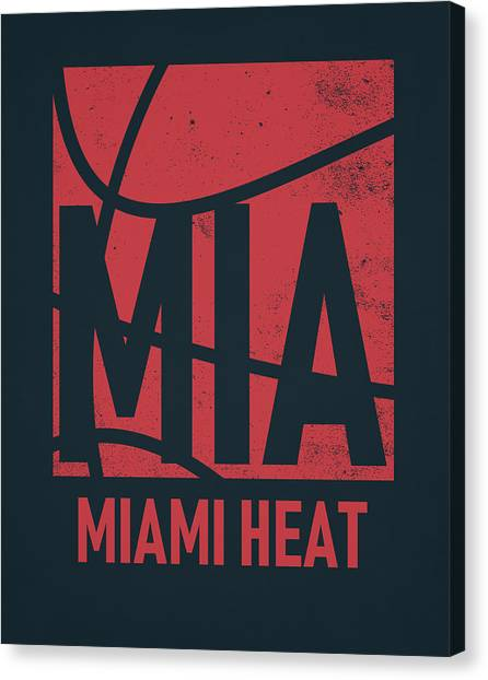 Miami Heat Canvas Print - Miami Heat City Poster Art by Joe Hamilton