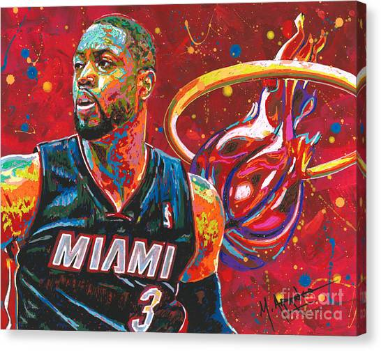 Miami Heat Legend Canvas Print