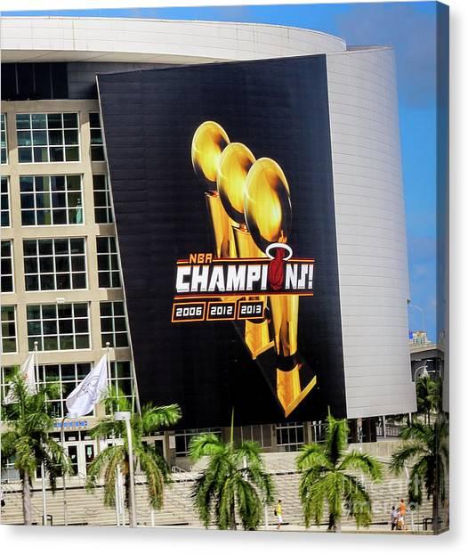 Miami Heat Nba Champions 2006-2012-20133 Canvas Print