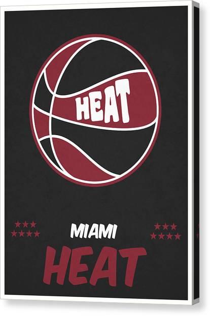 Miami Heat Canvas Print - Miami Heat Vintage Basketball Art by Joe Hamilton