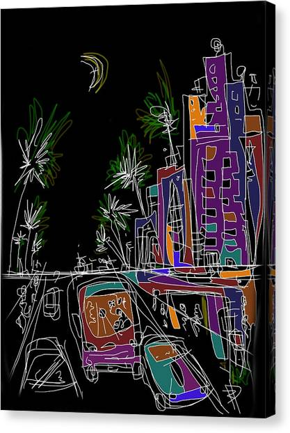 Miami Canvas Print by Russell Pierce