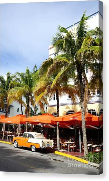 Miami South Beach Ocean Drive 8 Canvas Print