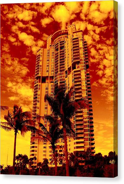 Miami South Pointe IIi Highrise Canvas Print