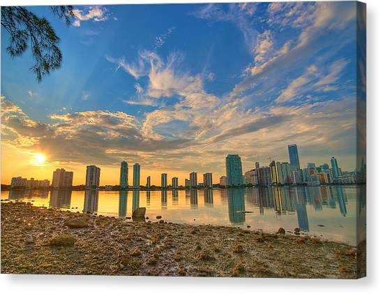 Miami Sunset Canvas Print
