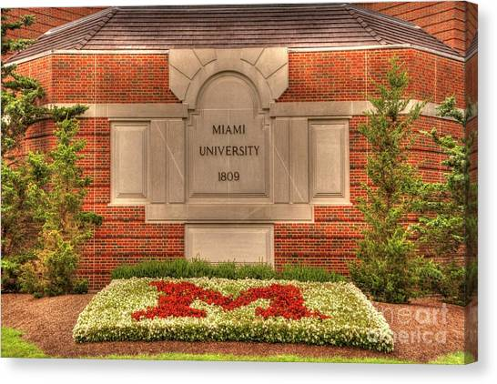 Alpha Phi Alpha Canvas Print - Miami Of Ohio No. 2. by Paul Lindner