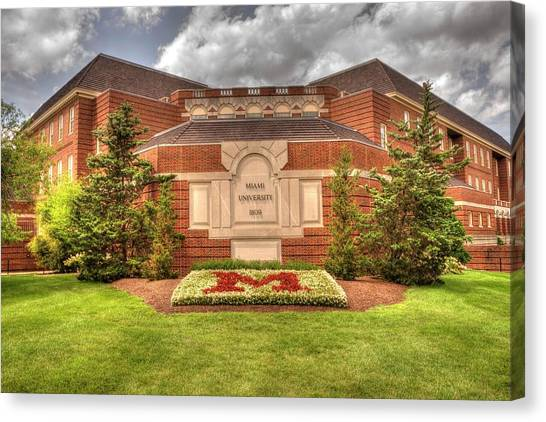 Gamma Phi Beta Canvas Print - Miami University Oxford,ohio by Paul Lindner