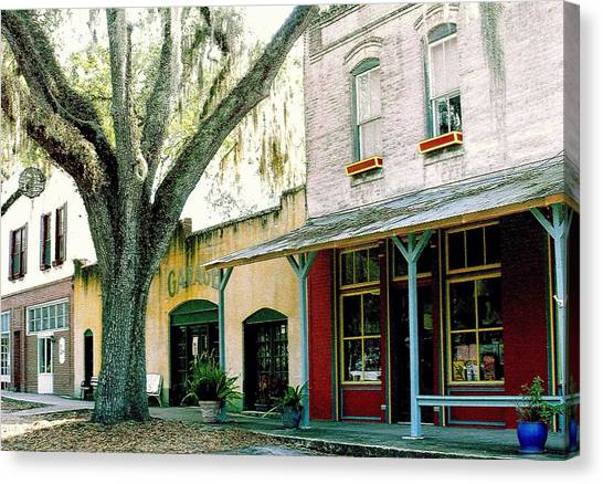 Micanopy Storefronts Canvas Print